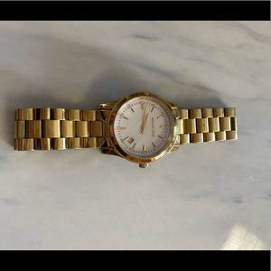 Michael Kors watch, gold with mother of pearl face